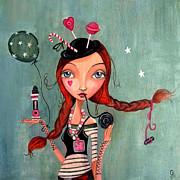 Candy Girl  Print by Caroline Bonne-Muller