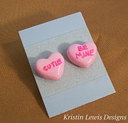 Woman Gift Jewelry - Candy Hearts by Kristin Lewis