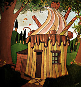 Storybook Prints - Candy House Print by Fotios Pavlopoulos