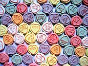 Hearts Painting Posters - Candy Love Poster by Michael Tompsett