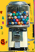 Machine Mixed Media Prints - Candy Machine Print by aDSPICE sTUDIOS Kids