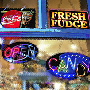 Window Signs Art - Candy Store Window by Steve Ohlsen