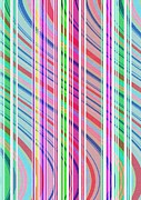 Geometry.color Prints - Candy Stripe Print by Louisa Knight