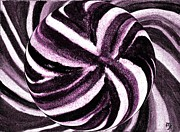 Purples Digital Art - Candy Swirl Lollipop by Marsha Heiken