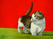 Switzerland Mixed Media - CANDY - The Scottish Fold by Dan Haraga