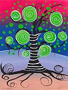 Coin Prints - Candy Tree Print by  Abril Andrade Griffith