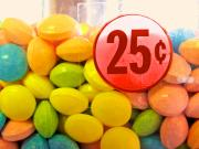 Colorful Posters - Candy Twenty Five Cents Poster by Bob Orsillo