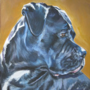 Black Dog Posters - Cane Corso Poster by Lee Ann Shepard