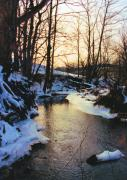 Winter Landscapes Photos - Caney Creek In Snow by Jan Amiss Photography
