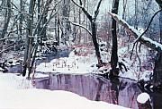 Creeks Prints - Caney Creek Snow Print by Jan Amiss Photography