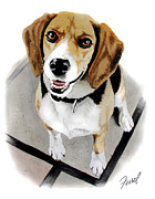 Friend Paintings - Canine Cutie by Ferrel Cordle