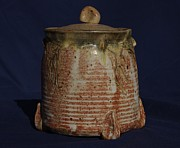 Clay Ceramics Metal Prints - Canister Metal Print by Rick Ahlvers