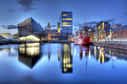 Liverpool Digital Art Prints - Canning Dock HDR Print by Paul Madden