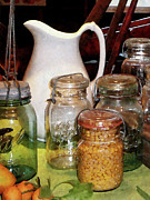 Jars Art - Canning Jar With Corn by Susan Savad