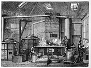 Stoves Framed Prints - Canning Kitchen, 19th Century Framed Print by Cci Archives