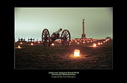 Memorial Illumination Framed Prints - Cannon and NY Monument 07 Framed Print by Judi Quelland