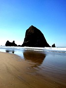 J Von Ryan Acrylic Prints - Cannon Beach Blue Acrylic Print by J Von Ryan