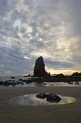 Sandcastles Prints - Cannon Beach Sunset 1 Print by Bob Christopher