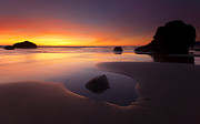 Cannon Beach Sunset Print by Mike  Dawson