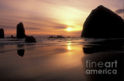 Seastacks Acrylic Prints - Cannon Beach Sunset-Oregon Acrylic Print by Sandra Bronstein
