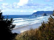 Whitecaps Posters - Cannon Beach Vista Poster by Will Borden