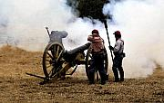 Civil War Cannon Prints - Cannon fire Print by David Lee Thompson