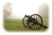 Antietam Photos - Cannon in the fog by Judi Quelland