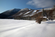 Snow-covered Landscape Prints - Cannon Mountain - White Mountains New Hampshire  Print by Erin Paul Donovan
