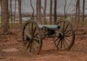 Seminary Prints - Cannon on Seminary Ridge Print by David Bearden
