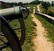 Canons Prints - Cannons at Antietam Print by Lois Lepisto
