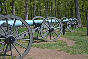 Canons Prints - Cannons of Gettysburg Print by Kathy Lyon-Smith