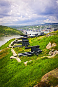 Guns Photos - Cannons on Signal Hill near St. Johns by Elena Elisseeva