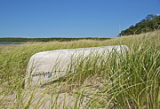 Hamptons Photos - Canoe and Sea Grass by William Moore