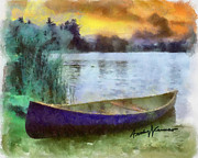 Lakeshore Digital Art - Canoe by Anthony Caruso