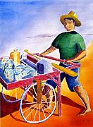 Canoe Originals - Canoe Fisherman with Cart by Buster Dight