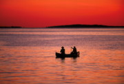 Canoe Metal Prints - Canoe Fishing Metal Print by John Greim