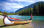 Canoe Originals - Canoe on the Bow River by Eric Epie