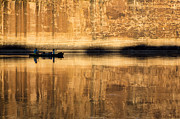 Kelly Photo Prints - Canoeing in Golden Light Print by Tim Grams