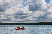 Life Jacket Prints - Canoeing in Riding Mountain National Park Print by Matt Dobson