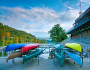 Monongahela River Framed Prints - Canoes And The Monongahela Framed Print by Steven Ainsworth