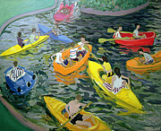 Kayak Paintings - Canoes by Andrew Macara