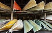 Boathouse Row Photos - Canoes by Khoa Vu