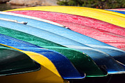 Canoes Print by Steve Parr