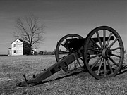 Artillery Gun Prints - Canon and the Henry House I Print by Steven Ainsworth