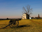 Manassas National Battlefield Park Photos - Canon and the Henry House II by Steven Ainsworth