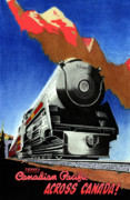 Train Mixed Media Prints - CanPac Print by Lyle Brown