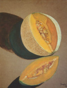 Cantaloupe Paintings - Cantaloupe by Kathryn Donatelli