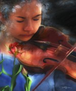 Violinist Digital Art - Cantata by Bob Salo