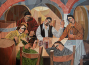 Winery Paintings - Cantina by Bruno Sciaraffia