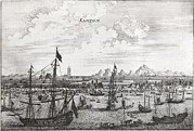 Embassy Prints - Canton Harbour, 17th Century Artwork Print by Middle Temple Library